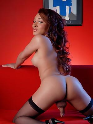 Beautiful Mia Isabella Posing In Stockings & Garters