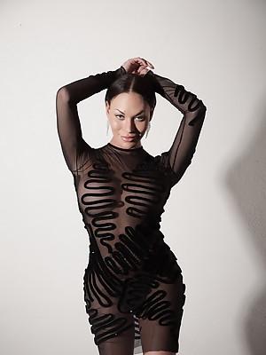 Gorgeous Mia posing for a fashion photoshoot